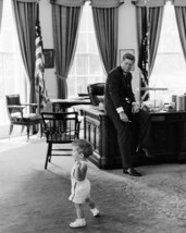 President John F. Kennedy watches JFK Jr. play in the Oval Office New 8x... - $6.61