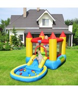 Inflatable Kids Slide Bounce House with 580w Blower - $364.43