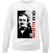 Edgar Allan Poe Poet 1 - New White Cotton Sweatshirt - $33.88