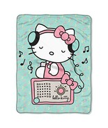 "SANRIO Hello Kitty, ""Rocking Kitty"" Micro Raschel Throw Blanket, 46"" x 6... - $21.49"