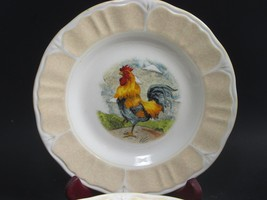 6 Gibson Everyday Designs  Rooster Salad Plates Excellent Condition set ... - $25.73