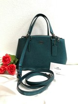 NWT - COACH F23337 MINI CHRISTIE CARRYALL METALLIC CROSSGRAIN LEATHER DA... - $138.55