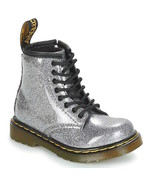 Dr. Martens Kids Collection 1460 Patent Glitter Brooklee Boot - Gunmetal... - $49.99