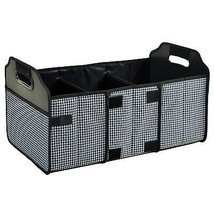 Travel Car 3 Compartment Folding Trunk Organizer Mesh Pocket Storage Con... - $51.79