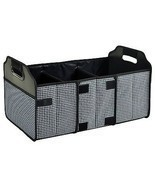 Travel Car 3 Compartment Folding Trunk Organizer Mesh Pocket Storage Con... - £36.89 GBP