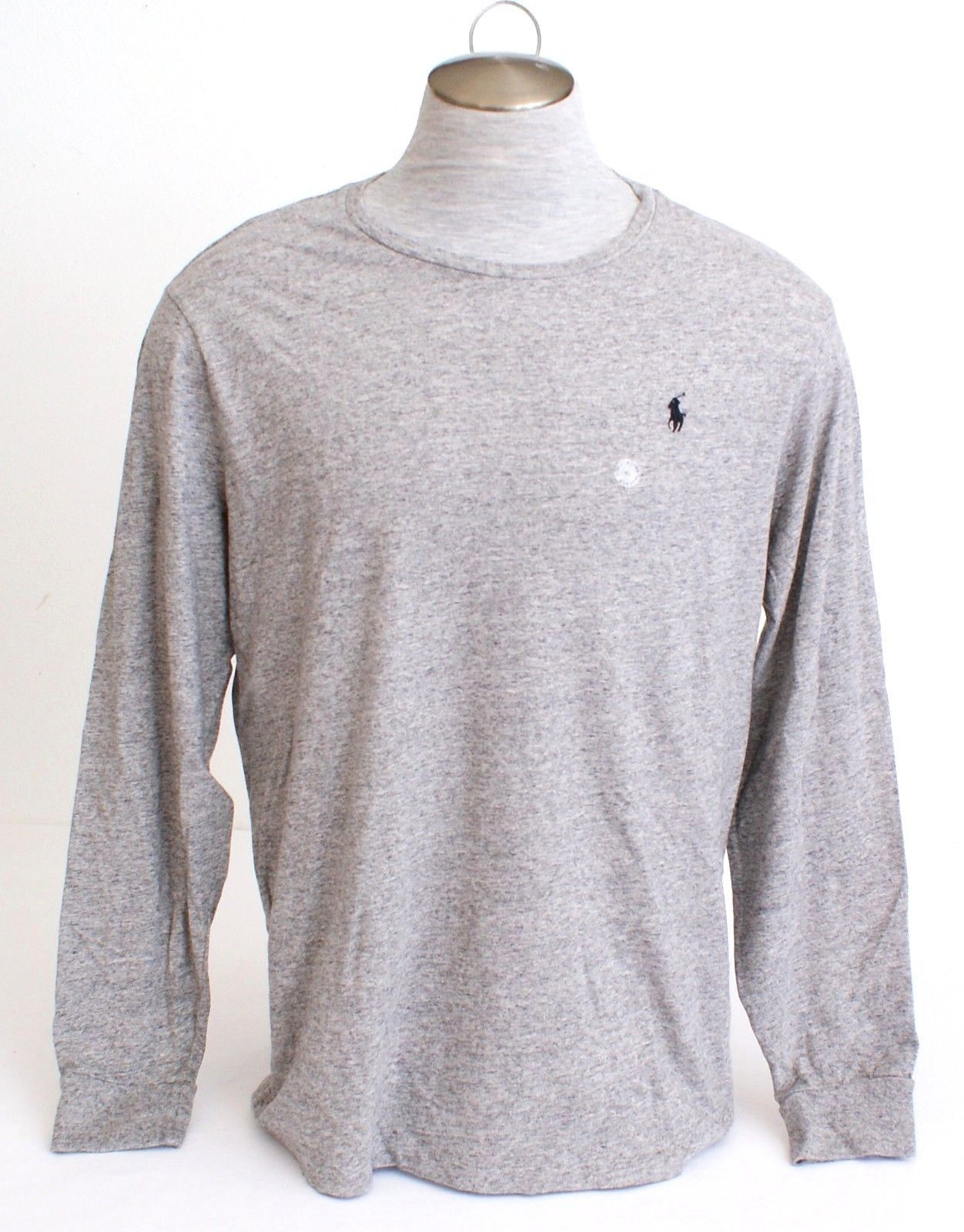 POLO by Ralph Lauren Long Sleeve Black T-Shirt With White Pony ~NWT~