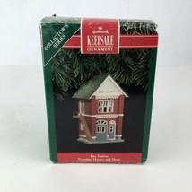 Hallmark Keepsake Ornament Fire Station Nostalgic Houses and Shops 1991 - $9.89