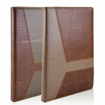 A5 Brown PU Leather Vintage Journal Notebook Lined Paper Diary Business ... - $20.56+
