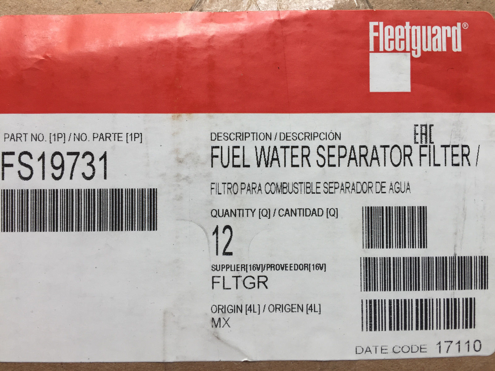 Case Fuel Filters Of 12 Fs19731 Fleetguard Filter And 21 Similar Items Pro Fh232 Series
