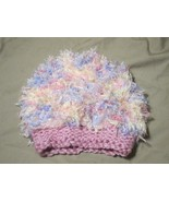 Handmade Knitted Pink Fuzzy Infant Winter Hat Cap CUTE - $9.90