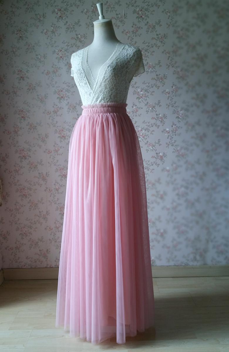 Rosepink 42 maxi tulle skirt 780 1