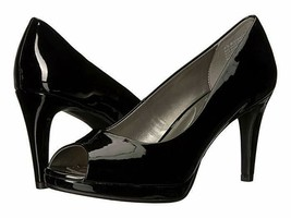 New Bandolino Black Patent Leather Peep Toe Platform Pumps Size 7M 8 M 8.5 M - $32.99