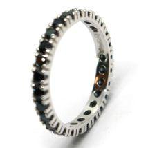 White Gold Ring 750 18K, Eternity, 4 Tips, 3 mm, Zircon Cubic Black image 4
