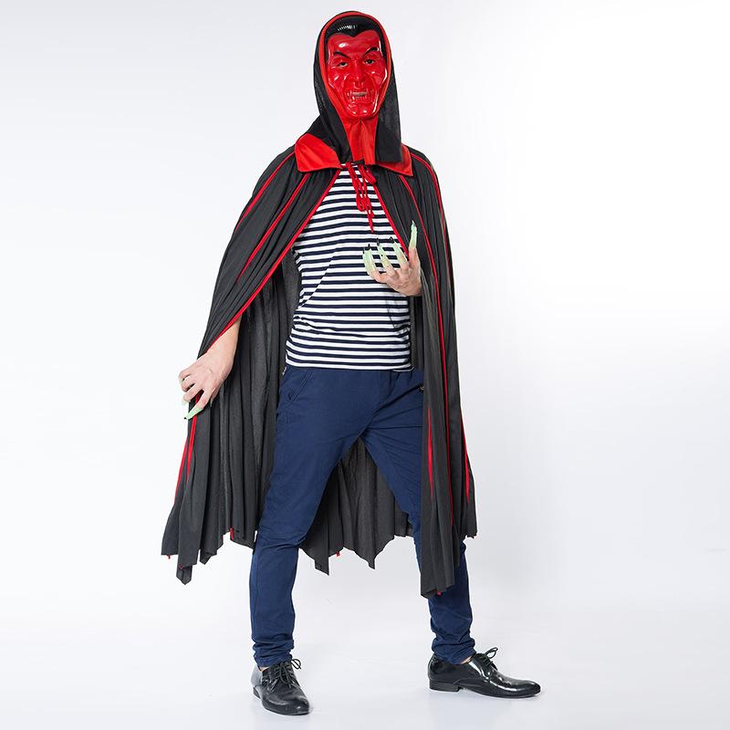 Halloween Adult Men Death Vampire Cosplay Hooded Cloak