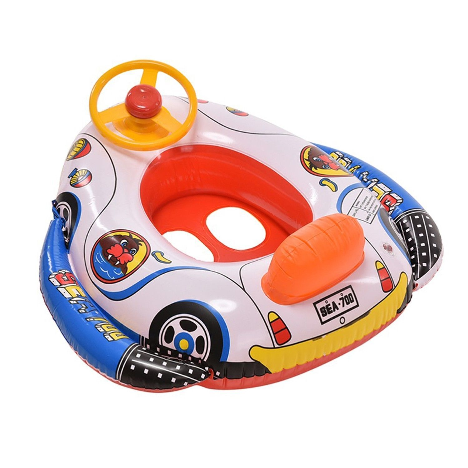 Inflatable Swimming Water Seat Boat Float Pool Baby Raft Swim Floating Sunshade Floats Rafts