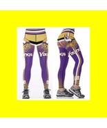 VIKINGS Leggings #12 Women Fan Gear - High Quality - NFL Football Gift - $34.99