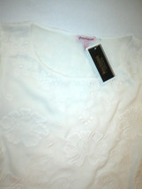 New $298 Juicy Couture Dress Short Womens L NWT Off White Embroider Texture Bell image 1
