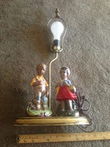 Vintage Atlantic Mold Ceramic  Figures & Lamp  Light - $48.51