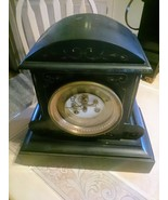 Black Marble French Antique Mantel Clock? * - $90.08