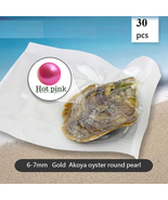 30pcs HOT PINK akoya Pearl In Oyster Vacuum-Packed 6- 7m  Freeship - $89.90
