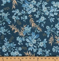 Something Blue Edyta Sitar Flowers Bouquet Cotton Fabric Print by Yard D... - $12.49