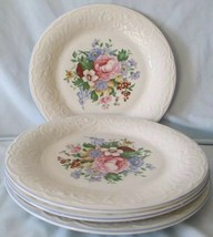Tabletops Unlimited Victorian Rose Dinner Plate set of 4 Floral Design AA73 - $32.89