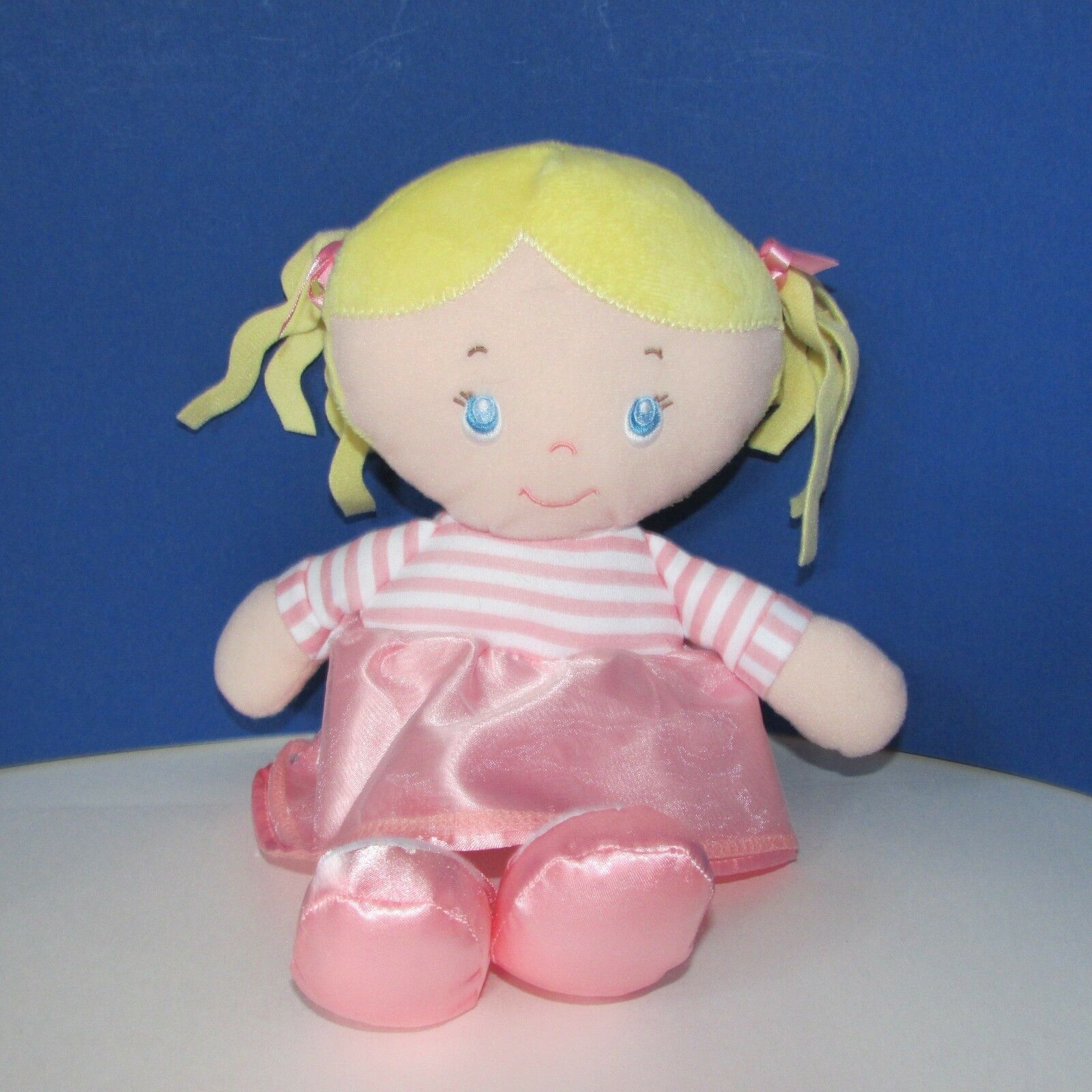 Kids Preferred first doll baby soft plush pink striped ballet dress slippers toy