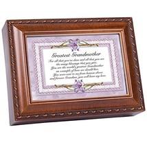 Cottage Garden Greatest Grandmother Forever My Love Woodgrain Music Box ... - $45.30