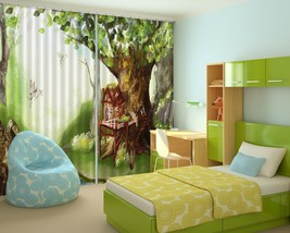 3D Tree Lawn 01 Blockout Photo Curtain Print Curtains Drapes US Lemon - $177.64+
