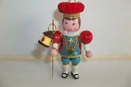 Vtg France Boy Prince JOYEUX NOEL Wood Christmas Ornament Sears Around t... - $12.99