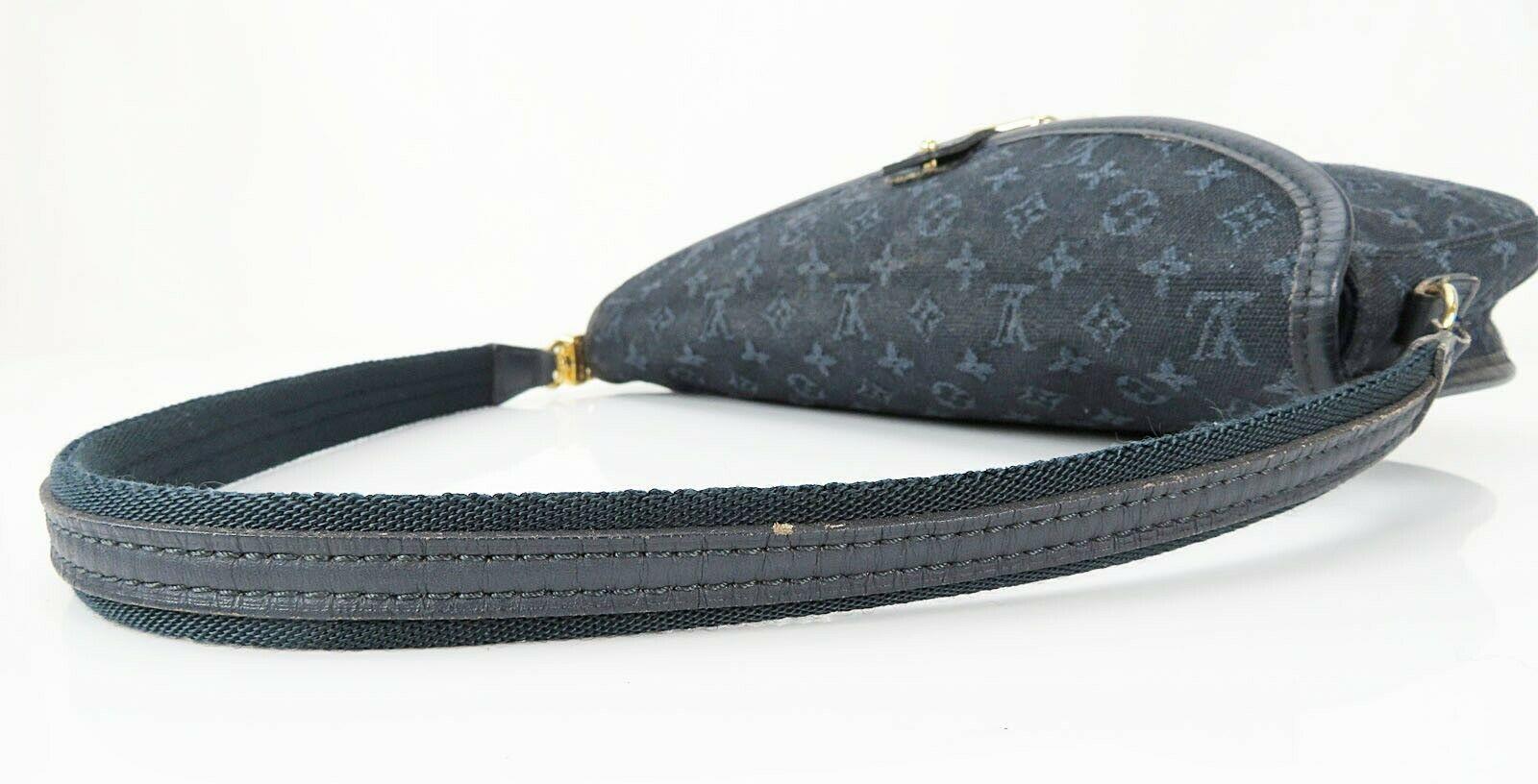 Authentic LOUIS VUITTON Marjorie Blue Monogram Mini Lin Shoulder Bag #34709 image 7