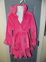 Gap Kids Plush Solid Hot Pink Hooded Robe Size 4 Girl's - $16.02