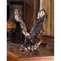 Eagle In Flight Table Top Figurine - $35.95