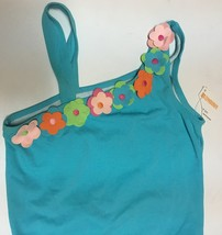 Youth Two Piece Swimwear Swimsuit Sz 12 Blue Floral SPF 50+ image 3