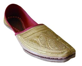 Men Shoes Indian Mojaries Handmade Espadrilles Leather Traditional Jutties US 11 - $39.99