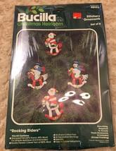 Bucilla Felt Ornaments Kit Santa Snowman Rockin... - $19.99