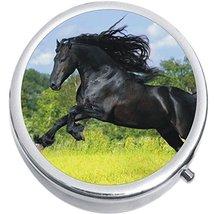 Black Horse Medicine Vitamin Compact Pill Box - $9.78