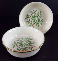 "LENOX China Holiday Dimension 2 Fruit/Dessert (Sauce) Bowl 5-3/8"" Dinner... - $39.59"
