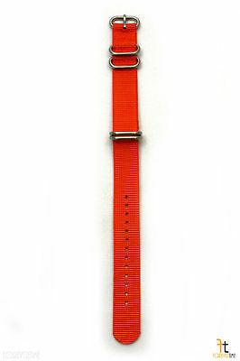 20mm para Luminox Nailon Tejido Naranja Correa Reloj de Pulsera 4 Acero