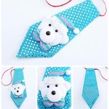 Christmas Bows Snowman Decoration Elk Tie Santa Claus Children Xmas Deco... - $3.99