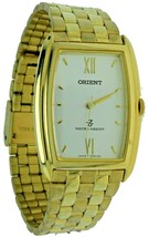 New Old Style ORIENT Quartz Stainless Steel Gold Tone Band, Case Watch W... - $56.09