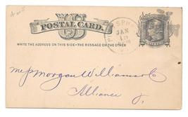 1879 UX5 Postal Stationery Card Pittsburgh PA Fancy Cancel Maltese Cross - $13.00