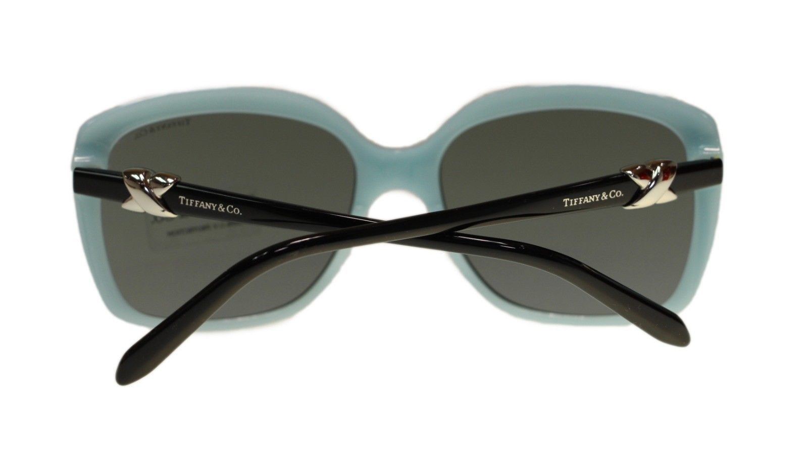 cbbdc9600c8 Tiffany TF4076 80553F Top Black Blue Square Women s Sunglasses 58mm  Authentic