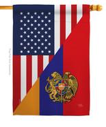 Armenia US Friendship - Impressions Decorative House Flag H108482-BO - $36.97
