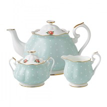 Royal Albert Polka Rose Tea Set, 3-Piece NEW IN THE BOX - $103.77