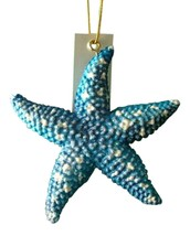 Tropical Sea Star Starfish Christmas Ornament Royal Blue 4 inch ORNStarf... - $15.96