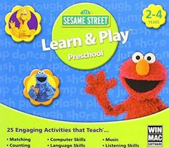 Sesame Street Learn & Play Preschool [CD-ROM] Mac OS X / Windows 7 / Win... - $9.89