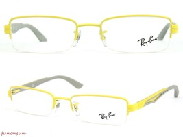 Ray Ban Eyeglasses RB6264 2798 Grey/Yellow Half-Rimless Frame 51mm Authentic - $76.63