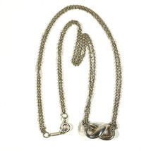 Tiffany & Co. Infinity Double Chain Pendant Necklace 925 Sterling Silver... - $116.88