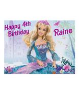 Barbie edible party cake topper edible cake image sheet decoration - $7.80